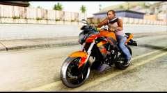 Kawasaki Z250SL Orange для GTA San Andreas