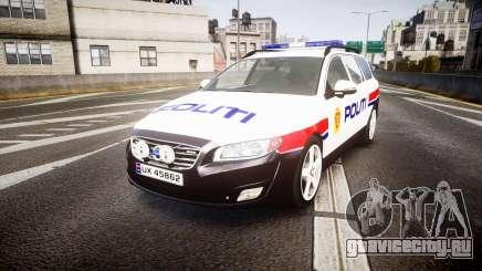 Volvo V70 2014 Norwegian Police [ELS] для GTA 4