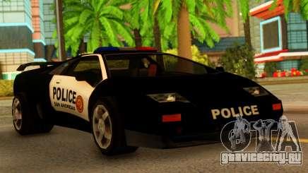 Lamborghini Diablo Police SA Style для GTA San Andreas