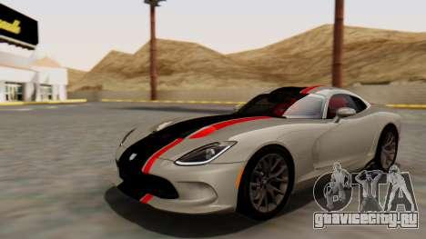Dodge Viper SRT GTS 2013 HQLM (HQ PJ) для GTA San Andreas вид сверху