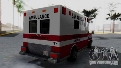 Ambulance with Lightbars для GTA San Andreas вид слева