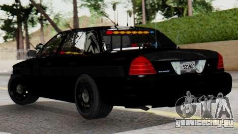FBI Rancher 2013 для GTA San Andreas вид слева