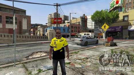 Футболка Natus Vincere для Франклина для GTA 5 третий скриншот