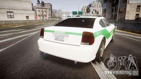 Bravado Buffalo Police [ELS] для GTA 4 вид сзади слева