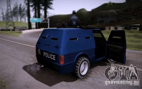 Броневик Huntley для GTA San Andreas вид сзади