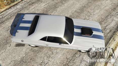 Dodge Challenger RT 440 1970 v0.3 [Beta] для GTA 5 вид сзади