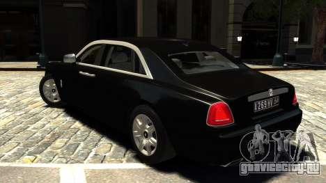 Rolls-Royce Ghost 2013 v1.0 для GTA 4 вид сзади слева