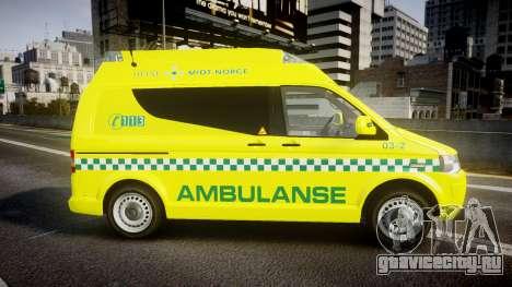 Volkswagen Transporter Norwegian Ambulance [ELS] для GTA 4 вид слева