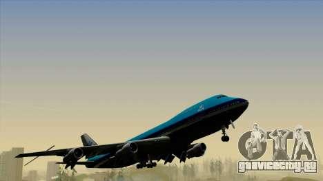 Boeing 747-200B KLM для GTA San Andreas вид справа
