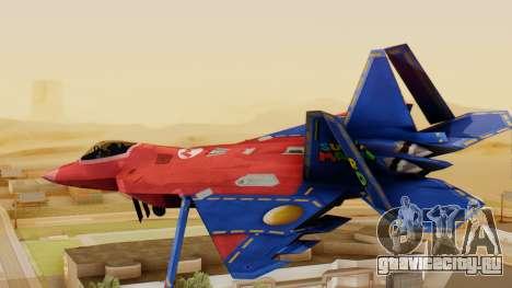 F-22 Raptor MARIO для GTA San Andreas вид слева