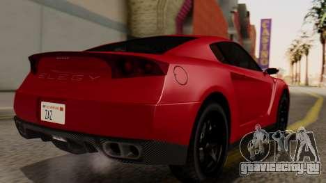GTA 5 Annis Elegy RH8 IVF для GTA San Andreas вид слева