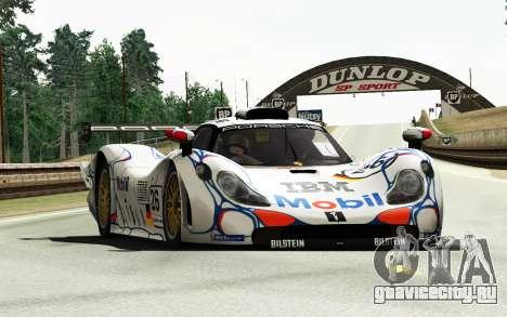 Porsche 911 GT1 1998 для GTA 4 вид сзади слева