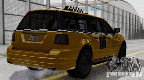 Vapid Landstalker Taxi SR 4 Style для GTA San Andreas вид слева