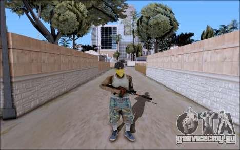 M4A1 Crimzone для GTA San Andreas второй скриншот