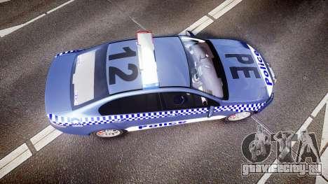 Ford Falcon FG XR6 Turbo NSW Police [ELS] для GTA 4 вид справа