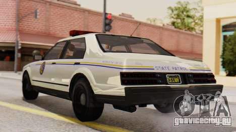 GTA 5 Albany Esperanto Police Roadcruiser IVF для GTA San Andreas вид слева