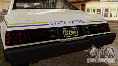 GTA 5 Albany Esperanto Police Roadcruiser для GTA San Andreas вид изнутри