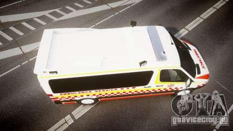 Mercedes-Benz Sprinter NSW Ambulance [ELS] для GTA 4 вид справа