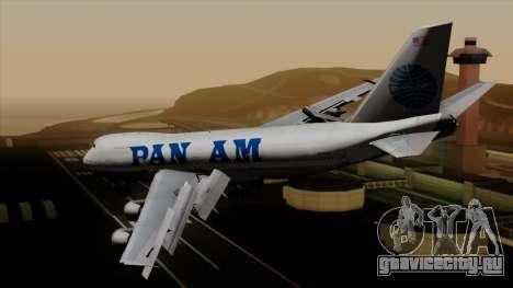 Boeing 747 PanAm для GTA San Andreas вид слева
