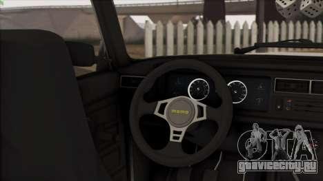 VAZ 2107 Avtosh Style для GTA San Andreas вид изнутри