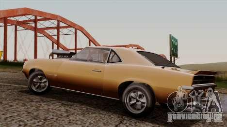 GTA 5 Declasse Vigero для GTA San Andreas вид сзади слева