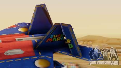F-22 Raptor MARIO для GTA San Andreas вид сзади слева
