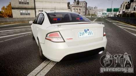 Ford Falcon FG XR6 Turbo Unmarked Police [ELS] для GTA 4 вид сзади слева