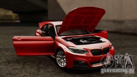 BMW M235i F22 Sport 2014 для GTA San Andreas вид сверху