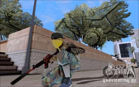 M4A1 Crimzone для GTA San Andreas третий скриншот