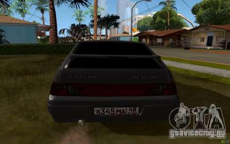 ВАЗ 2112 Липецк для GTA San Andreas вид сзади слева