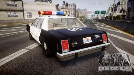 Ford LTD Crown Victoria 1987 LAPD [ELS] для GTA 4 вид сзади слева