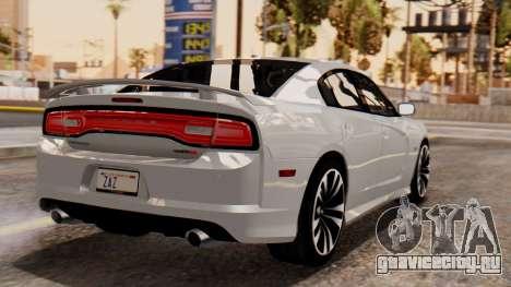 Dodge Charger SRT8 2012 LD для GTA San Andreas вид слева