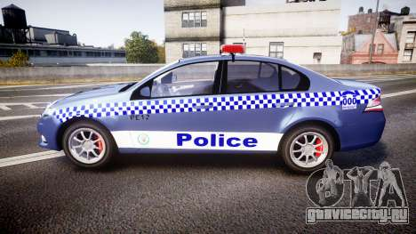 Ford Falcon FG XR6 Turbo NSW Police [ELS] для GTA 4 вид слева