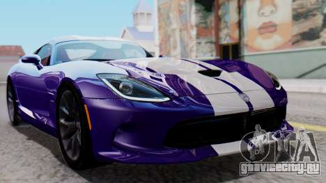 Dodge Viper SRT GTS 2013 HQLM (HQ PJ) для GTA San Andreas