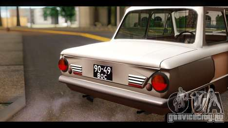 ЗАЗ 968А для GTA San Andreas вид сзади