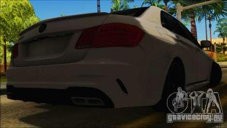 Mercedes-Benz E63 Brabus BUFG Edition для GTA San Andreas вид изнутри