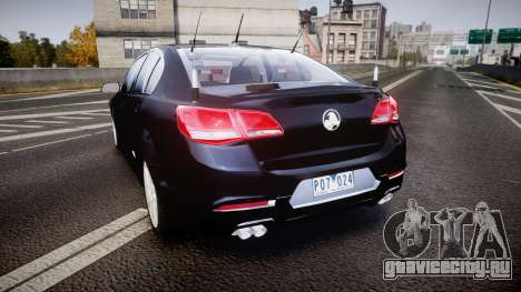 Holden VF Commodore SS Unmarked Police [ELS] для GTA 4 вид сзади слева