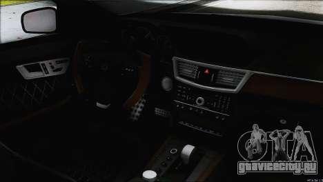 Mercedes-Benz E63 Brabus BUFG Edition для GTA San Andreas вид сверху