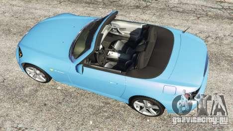 Honda S2000 для GTA 5 вид сзади