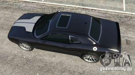 Dodge Challenger SRT8 2009 v0.2 [Beta] для GTA 5 вид сзади