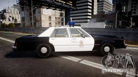 Ford LTD Crown Victoria 1987 LAPD [ELS] для GTA 4 вид слева