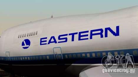 Boeing 747 Eastern для GTA San Andreas вид сзади