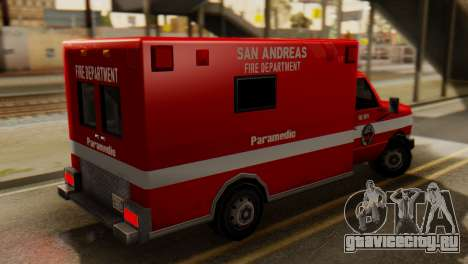 SAFD Ambulance для GTA San Andreas вид слева