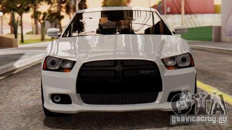 Dodge Charger SRT8 2012 LD для GTA San Andreas вид изнутри