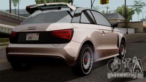 Audi A1 Quattro Clubsport для GTA San Andreas вид слева