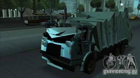 TDK Volvo Xpeditor Garbage Crash Version для GTA San Andreas вид сзади