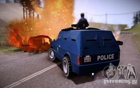 Броневик Huntley для GTA San Andreas вид сзади слева