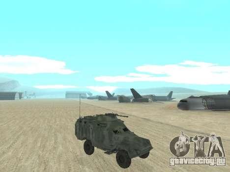 БТР 40 для GTA San Andreas вид сзади слева