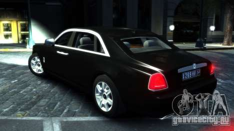 Rolls-Royce Ghost 2013 v1.0 для GTA 4 вид справа