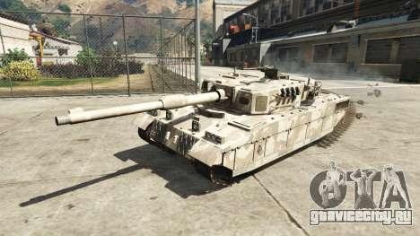 Миниатюрный танк Rhino для GTA 5 вид сзади слева